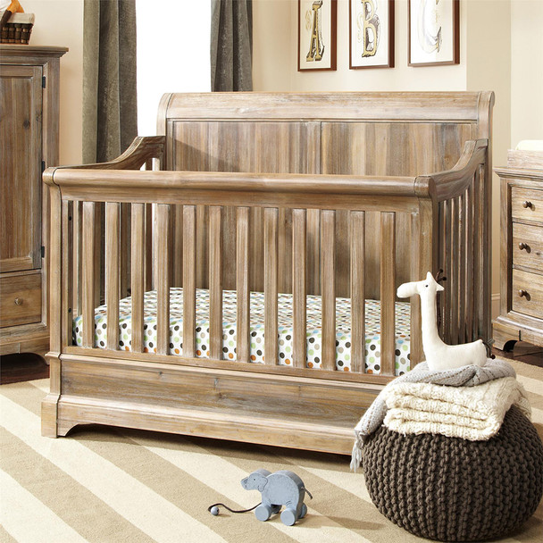 Bertini Pembrooke 5-in-1 Convertible Crib in Natural Rustic