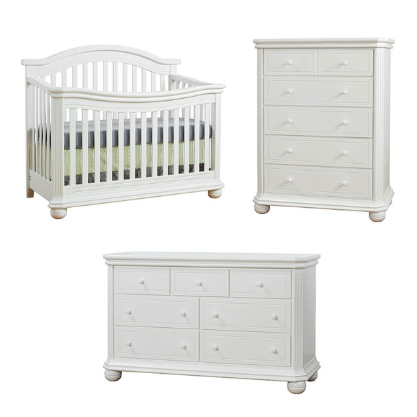 Sorelle Vista Elite Collection 3 Piece Set in White
