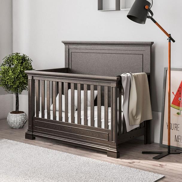 Silva Jackson Convertible Crib in Oil Grey