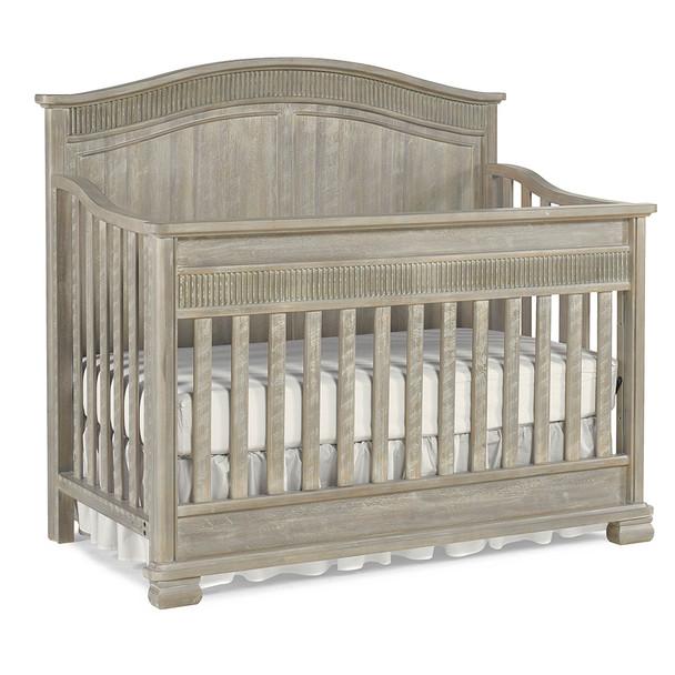 Dolce Babi Florenza Full Panel Conv Crib in Dove Grey