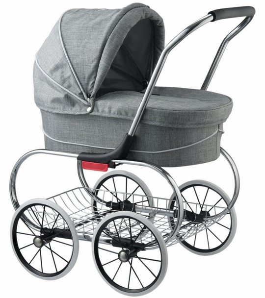 Valco Princess Tailormade Doll Stroller in Grey Marle