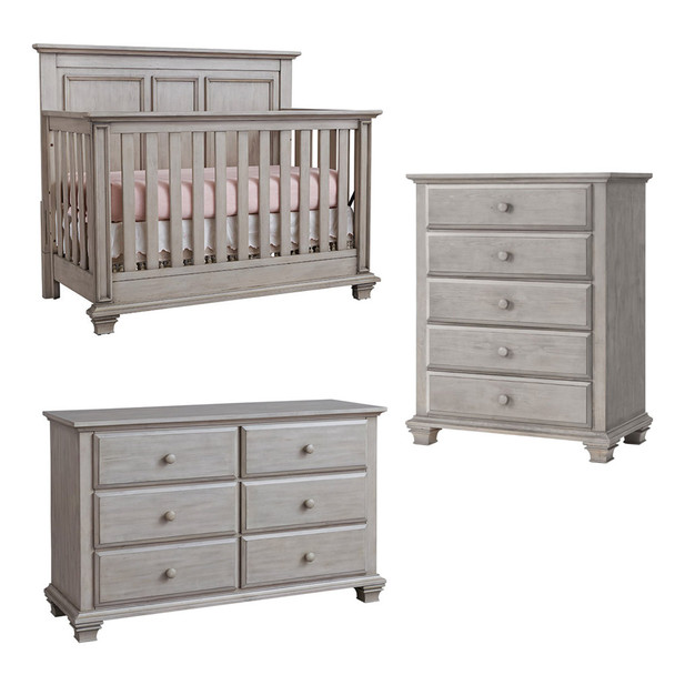 Oxford Baby Kenilworth Collection 3 Piece Set in Stone Wash