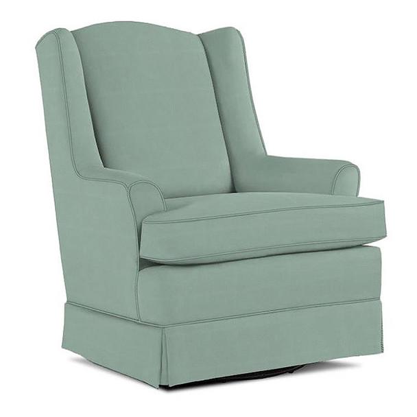 Best Chairs Natasha Swivel Glider in Teal