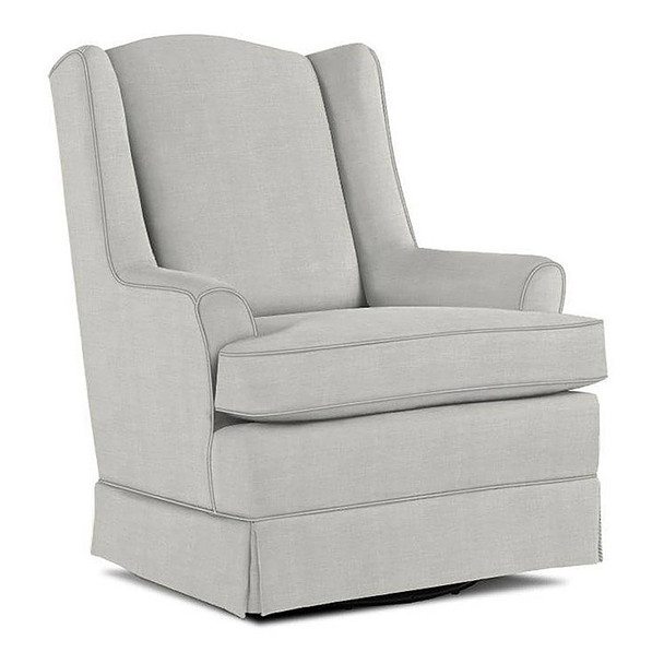 Best Chairs Natasha Swivel Glider in Sterling