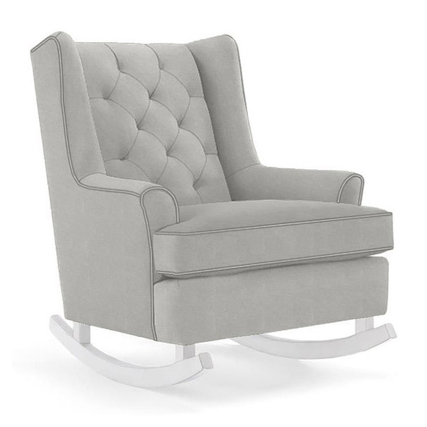 Best Chairs Paisley Swivel Glider in Grey