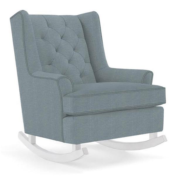 Best Chairs Paisley Swivel Glider in Ultramarine