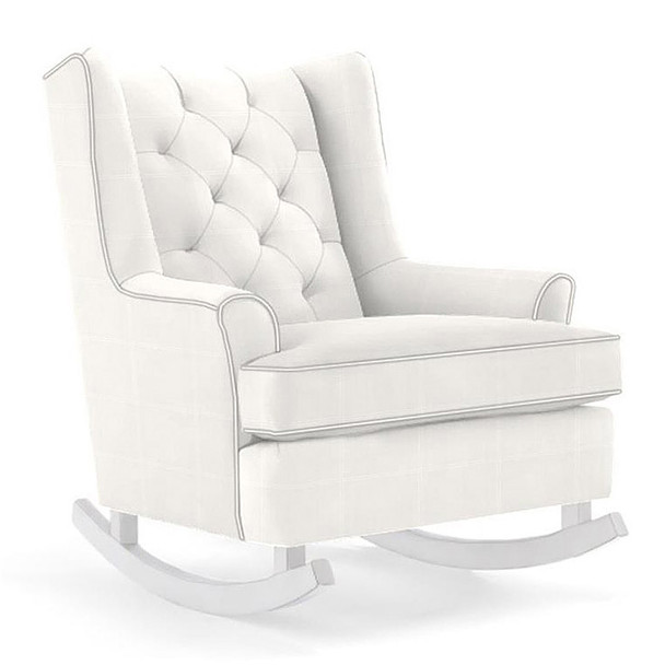 Best Chairs Paisley Swivel Glider in Ecru