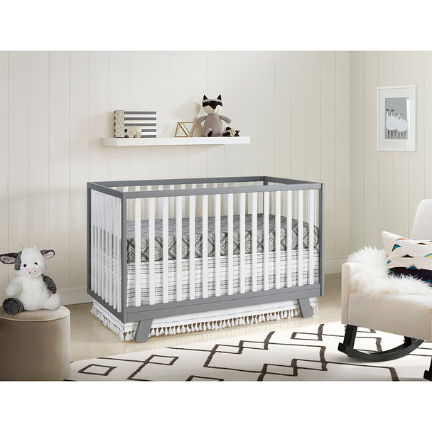 Oxford Baby Onni 3 In 1 Crib Gray / White