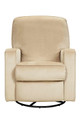 Creations Sutton Swivel Glider Recliner in Stella Straw
