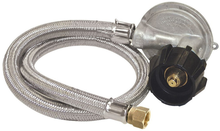 "36"" Stainless Braided Hose & Regulator-0.5 psi-M5LPH"