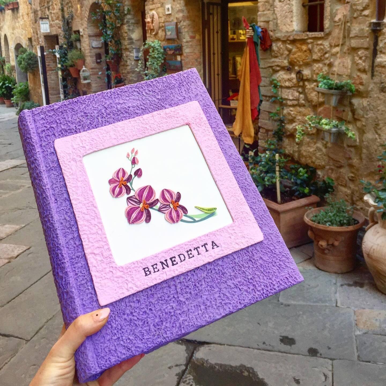 Album Fotografico Grande, con Cornice ed Origami, Collezione Papel
