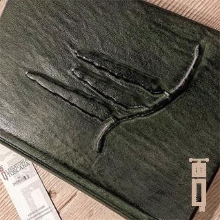 Libro delle Firme in pelle con cipressi in embossing