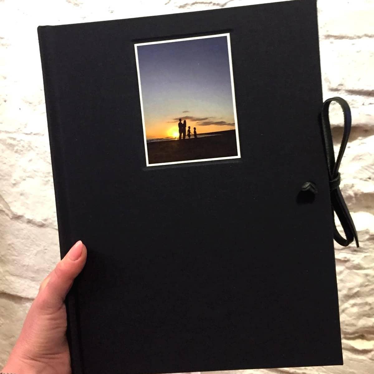 Album Foto Grande in Tela con Finestra