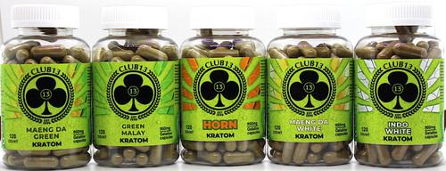 Club13 Kratom 120ct Jumbo Capsules (SELECT PIC FOR MORE OPTIONS)