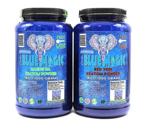 Blue Magic Kratom 1000g kilo Powder Protein Jar