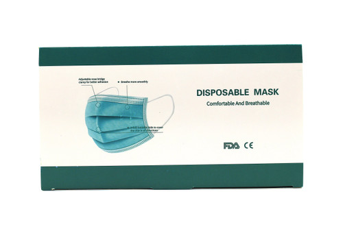 Masks Disposable Face Mask 50ct 3 layer to cover the chin