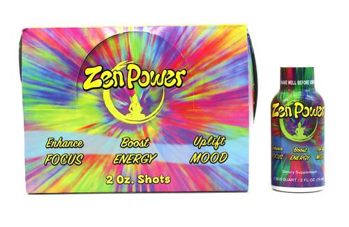 ZEN POWER Enhance Focus, Boost Energy & Uplift Mood 12ct shots