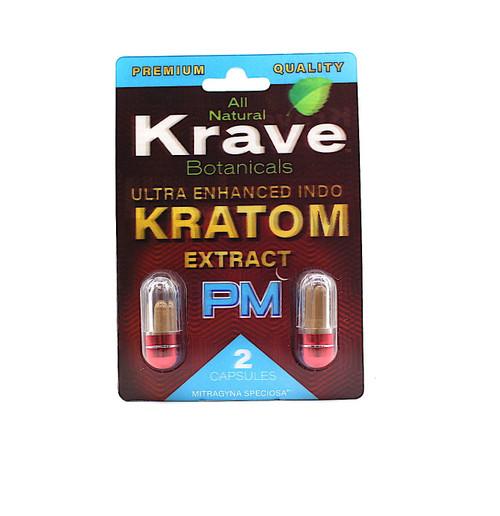 Krave Botanicals - 2 Ultra Enhanced Indo Kratom Extract Capsules ( PM )