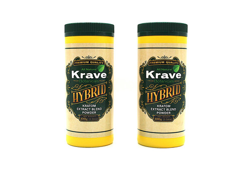 Krave HYBRID CT & Grams  ( Extarct+Enhanced Kratom)