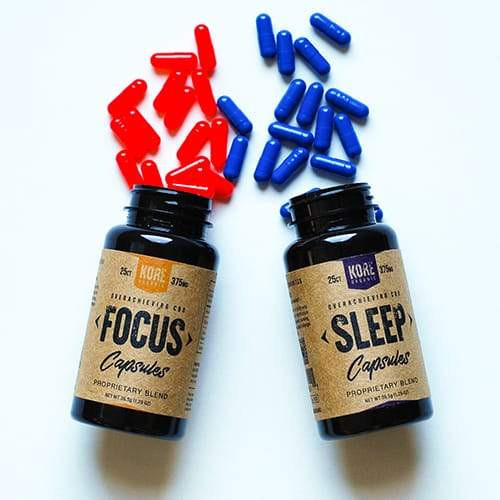 Kore Organic CBD Capsules 25ct - Sleep/Focus