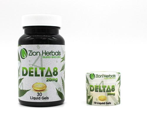 Zion Herbals Delta 8 Liquid Gel Capsules
