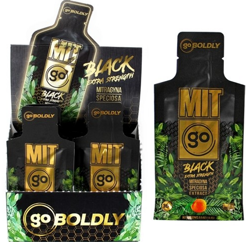 MIT ON THE GO -  Black Extra Strength Liquid kratom Pouch ( Display of 12 )