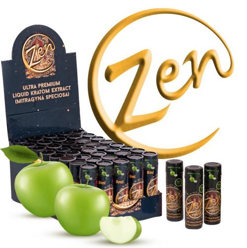 New Zen Ultra Premium Quality Kratom Extract Shots ( 40 Bottles per case / 8 ML )