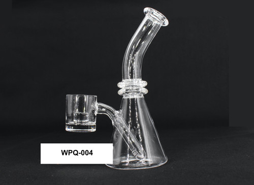 Full Quartz Full 1 Piece Small Water Pipe ( Different Banger Attachments )