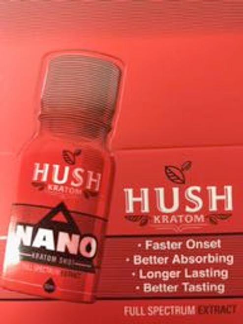 Hush NANO Kratom (Display of 12) 10ml per bottle