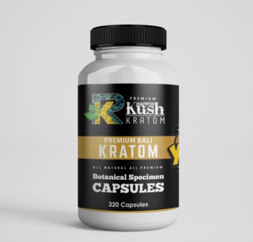 Rapper Kush Kratom - 320 Capsules All Natural Kratom