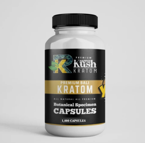 Rapper Kush Kratom - 1,000 Capsules All Natural Kratom