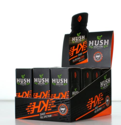 Hush Kratom - HK Full Spectrum Extract Liquid Shot ( 10ml / Display of 12 )