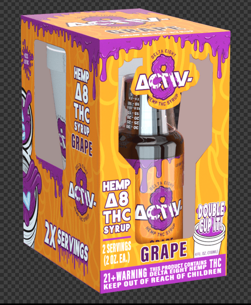 Activ 8 -  Delta 8 Fl. OZ. Syrup  1 Single Box with Double Cup / 2x Serving