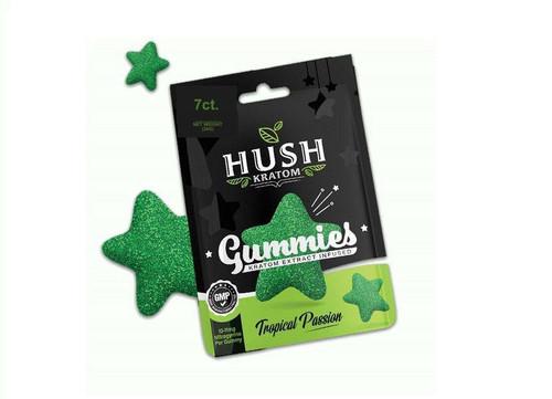 Hush Kratom Gummies Display of 12ct
