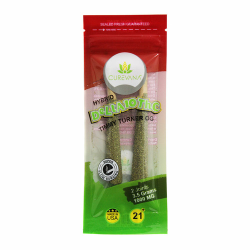 Curevana Delta 10 Pre-Roll Joint 1000mg Display of 12  (2 joint per pack)