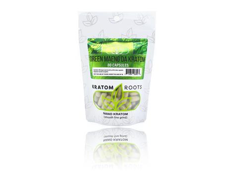 Kratom Roots - 80 Capsules High Quality NANO Kratom ( Smooth Fine Grind )