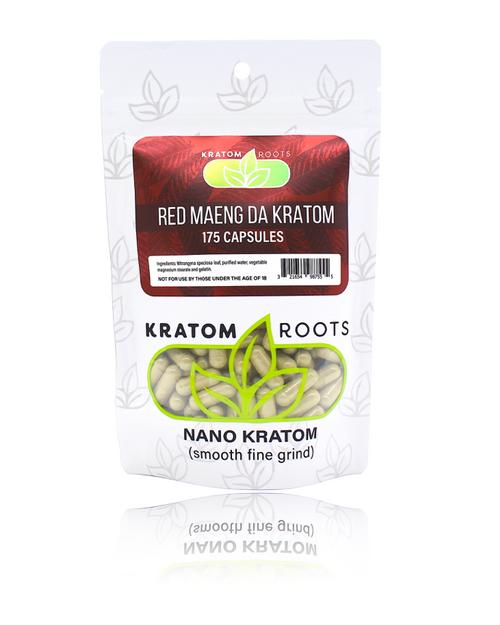 Kratom Roots - 175 Capsules High Quality NANO Kratom ( Smooth Fine Grind )