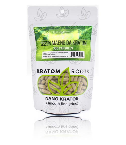 Kratom Roots - 350 Capsules High Quality NANO Kratom ( Smooth Fine Grind )