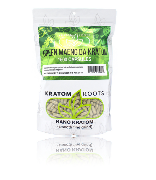Kratom Roots Kilo / 1,500 Capsules High Quality NANO Kratom ( Smooth Fine Grind )