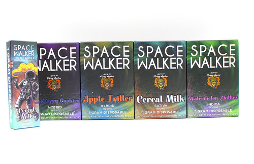 Space Walker - THCO + Delta 8 Disposable (  1 Gram / Display of 6 )
