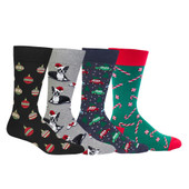 Men's Getting Ready For Santa 4 Pair Pack Gift Box