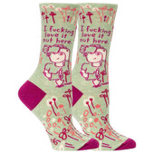 Women's I F*cking Love It Out Here Crew Socks