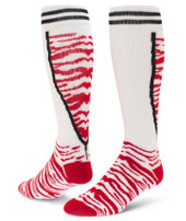 Top Cat Knee High Sports Socks - White & Red