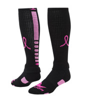 Ribbon Pegasus 2.0 Knee High Sports Socks - Black & Pale Pink