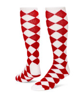 Jester Knee High Sports Socks - White Red