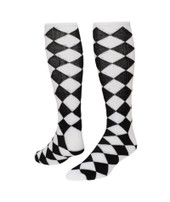 Jester Knee High Sports Socks - White & Black