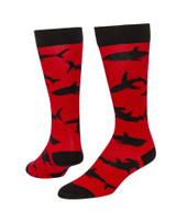 Bait Knee High Sports Socks - Red & Black