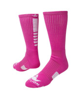 Legend 2.0 Crew Sports Socks - Neon Pink White