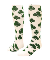 Shamrock Knee High Sports Socks - White & Kelly Green