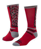Team Camo Crew Sports Socks - Red